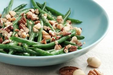 Grüner Bohnensalat mit Macadamia Nüssen