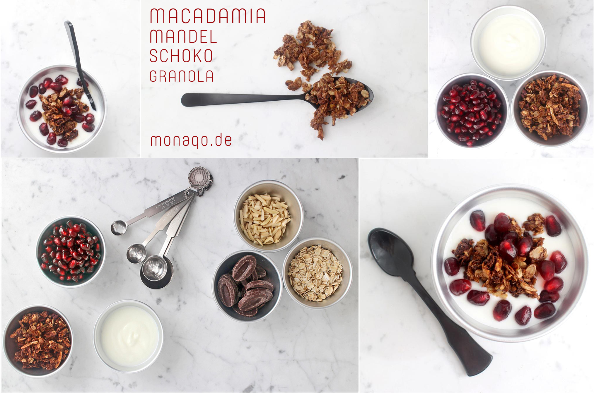 Knuspermüsli mit Macadamias: Schoko-Macadamia-Mandel-Granola