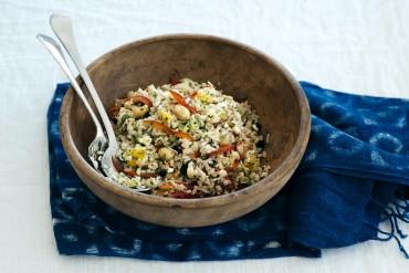 Reissalat mit gerösteten Macadamia Nüssen