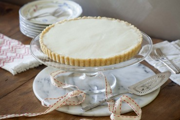 Vegan: Macadamia Shortbread Tarte mit Zitronen-Kokosnuss-Creme
