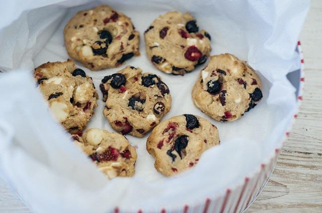 Macadamia Weihnachts Cookies