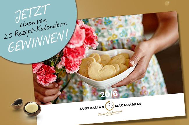 Die leckersten Macadamia Rezepte für 2016 – jetzt noch einen von 20 Australian Macadamia Rezept-Kalendern gewinnen!