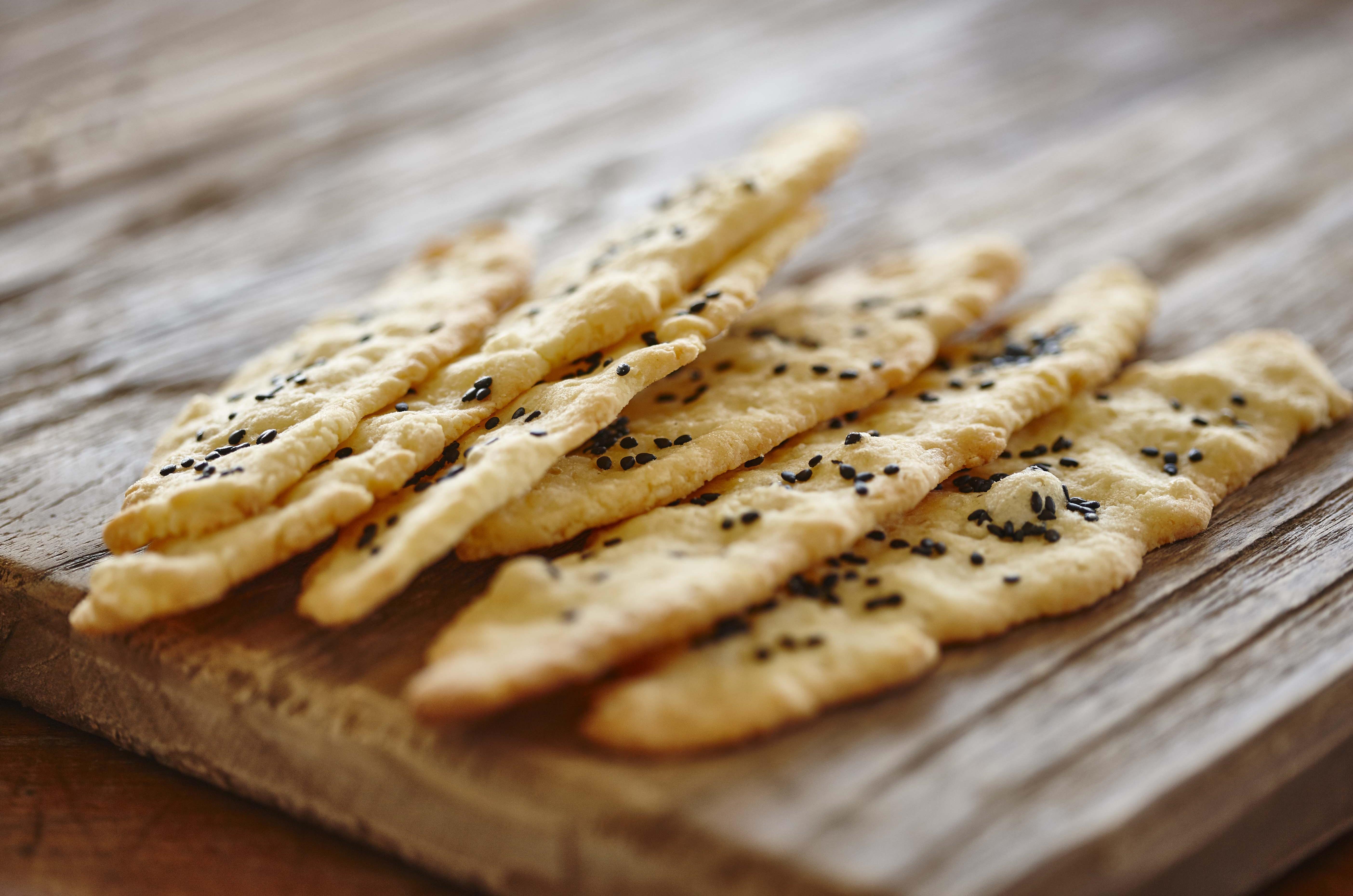 Macadamia Käse Cracker