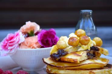 Macadamia Schokoladen-Butter Pancakes