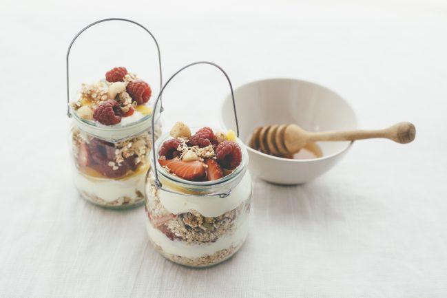 Sommer Frühstück im Glas