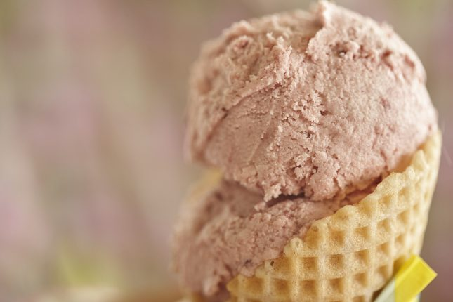 "Vegane Erdbeer- Macadamiamilch ""Eiscreme"""