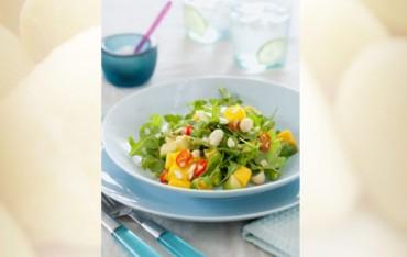 Mango, Avocado und Macadamia Salat