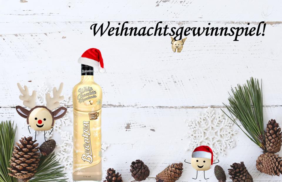 Weihnachts-Gewinnspiel: Berentzen White Chocolate Macadamia