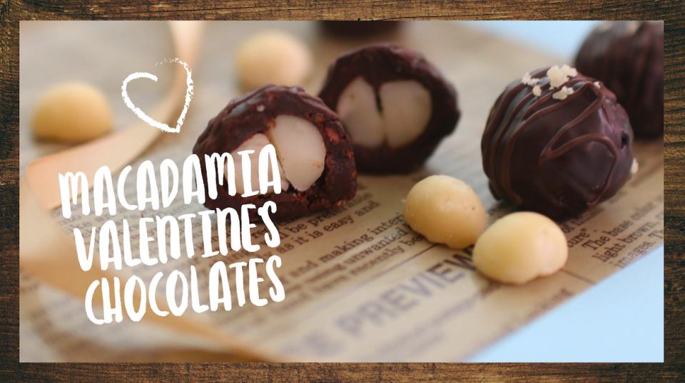 Macadamia-Schokis für den Valentinstag