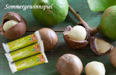 Sommer-Gewinnspiel: 3x Götter Riegel der Sorte Apfel-Macadamia