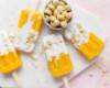 Macadamia-Eis am Stiel mit Mango und Kokos